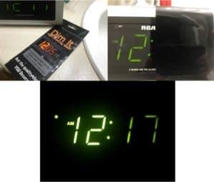 Radio Digital Snooze Lightdims Covers Battery Loud Alarm Standby Stickers USB Adjustable Sunrise sunshine alarm Sunset alarm Travel AM/FM Vibrating LCD Red Night light minutes Hours seconds