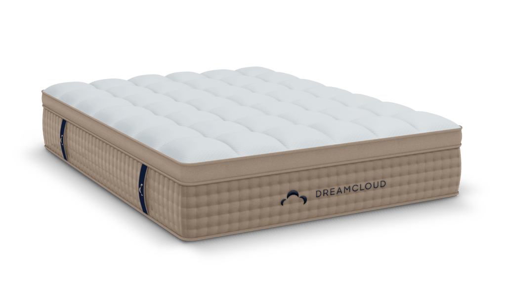 standard photo of dreamcloud mattress white back